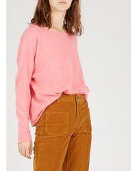 American Vintage - Round-neck Angora Sweater Candy - Lyst