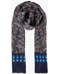 Gerard Darel Foulard imprimé cachemire en laine et soie - Multicolore