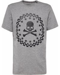 "Philipp Plein - T-shirt Round Neck Ss ""the Sky"" - Lyst"