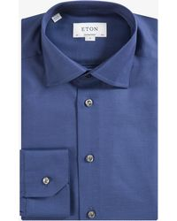 Eton of Sweden - Contemporary Fit Micro Dot Shirt Navy - Lyst
