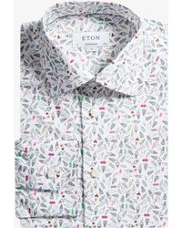 Eton of Sweden - Contemporary Fit Ice Cream Sketch Shirt White - Lyst