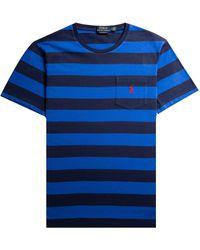 Polo Ralph Lauren Custom Slim Fit Bar Striped T-shirt Navy/royal - Blue