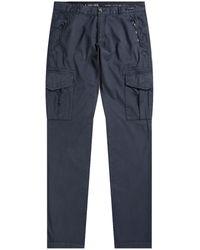 Pockets Paul & Shark Silk & Stretch Cotton Combat Pants Navy - Blue