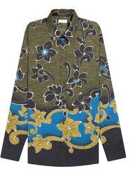 Dries Van Noten - Corbino Floral Shirt Khaki - Lyst