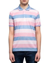 Pockets Paul And Shark Striped Polo T Shirt - Pink