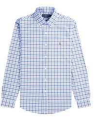 Polo Ralph Lauren Classic Gingham Check Shirt Blue & White