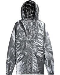 Paul & Shark 'metallic' Full Button Primaloft Jacket Silver