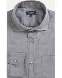 Armani Jeans - Soft Cotton Micro Striped Shirt Mid Grey - Lyst