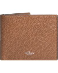 Mulberry 'grained Leather' 8 Card Wallet Oak - Brown