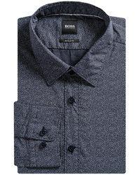 BOSS by Hugo Boss 'lukas' Small Fleck Shirt Navy - Blue