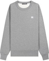 Acne Studios Fairview Face Sweatshirt Light Grey