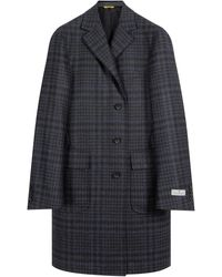 Canali 'kei Impeccabile' Checked Overcoat Grey