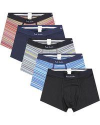 Paul Smith 5 Pack Stripe Boxer Pack Multi - Blue