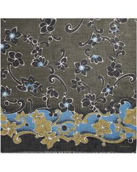 Dries Van Noten Furl Floral Print Scarf Khaki - Multicolor