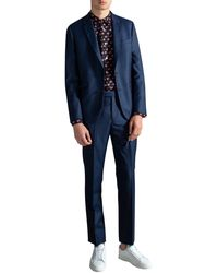 Paul Smith Soho Fit Wool Suit Petrol Blue