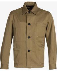 Paul Smith - Cotton-twill Stretch Chore Jacket Khaki - Lyst