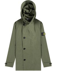 Stone Island 'old School' Cotton/cordura Jacket Olive - Green