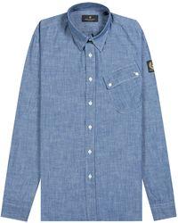 Belstaff Pitch Shirt Chambray - Blue