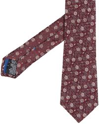 Paul Smith - Floral Design Tie Damson - Lyst