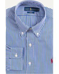 Ralph Lauren - Slim Fit Button Down Bengal Stripe Force Blue/white - Lyst