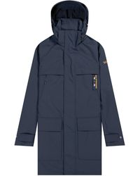 Pockets Paul & Shark 'giraglia' Sailing Race Parka Jacket Navy - Blue