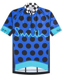 Paul Smith Cycling Jersey With Polka Dots Indigo - Blue
