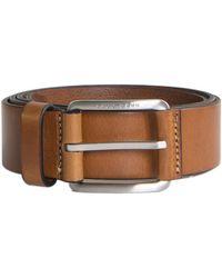 BOSS by Hugo Boss 'scar_sz35_ltpl' Leather Belt Tan - Brown