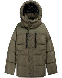 Ralph Lauren Garston Full Zip Lined Down Jacket Khaki - Green