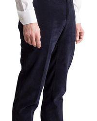 Canali Luxury Corduroy Trouser Navy - Blue