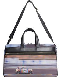 Paul Smith 'racing Mini' Canvas Holdall Weekend Bag Multi - Multicolour