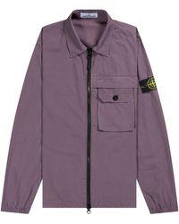 Stone Island Garment Dyed Pocket Overshirt Mauve - Purple
