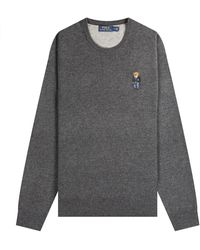 Polo Ralph Lauren Polo Bear Crew Neck Knit Charcoal - Grey