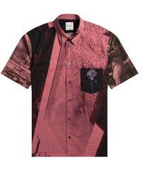 Paul Smith Beach Scene Printed Shirt Raspberry - Multicolor