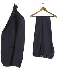 Paul Smith 'kensington' Dinner Suit With Braiding Trim Navy - Blue