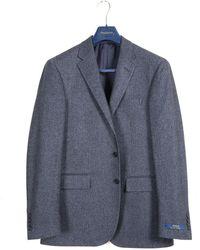 Polo Ralph Lauren 'classic Herringbone' Side Vent Blazer Steel Blue