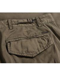 Pockets Paul & Shark Silk & Stretch Cotton Combat Pants Military Green