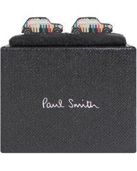 Paul Smith 'mini Car' Mutli Stripe Cufflinks - Multicolour