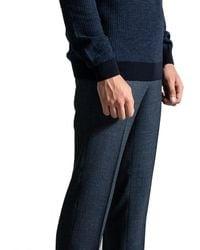BOSS 'genesis4' Checked Wool Trouser Blue