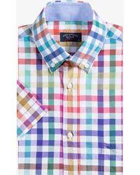 Paul & Shark - Table Check Shirt Rainbow Multi - Lyst