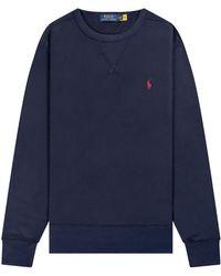 Ralph Lauren Core Classic Crew Sweatshirt Navy - Blue