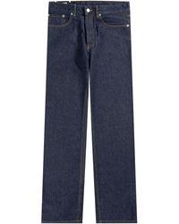Dries Van Noten - Panthero Straight Fit Denim Jeans Blue - Lyst