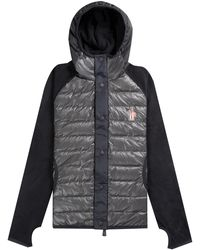 Moncler Grenoble Maglia Fleece Hooded Cardigan Navy - Multicolour