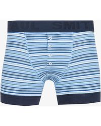 Paul Smith - Fitted Multi Stripe Boxers Blue - Lyst