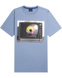 Paul Smith Ps Eye Print T-shirt Blue