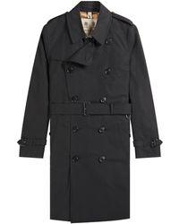 Pockets Burberry 'the Kensington' Mid Trench Coat Black