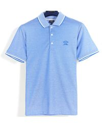Pockets Paul & Shark 'mercerised' Cotton Polo Sky Blue
