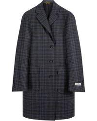 Canali 'kei Impeccabile' Checked Overcoat Grey