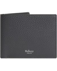 Mulberry Coin Grained Leather 8 Card Wallet Black