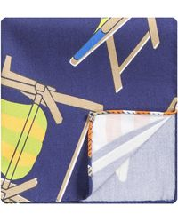 Eton of Sweden 'deck Chair' Pocket Square Royal Blue