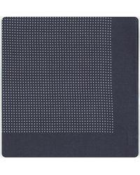 BOSS - Micro Polka Dot Pocket Square Navy/white - Lyst